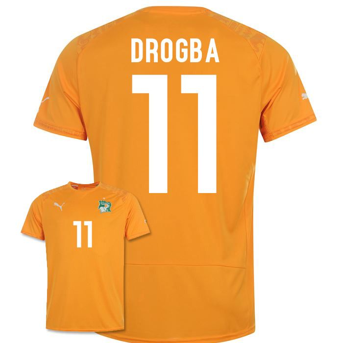 106248439 2014-15 Ivory Coast World Cup Home Shirt (Drogba 11)