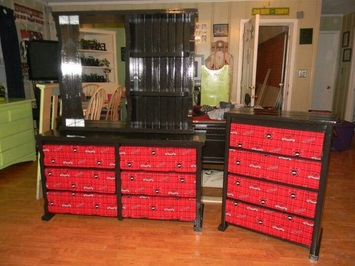 Arkansas Razorback kids dressers set .   Big boy bedrooms, Kids