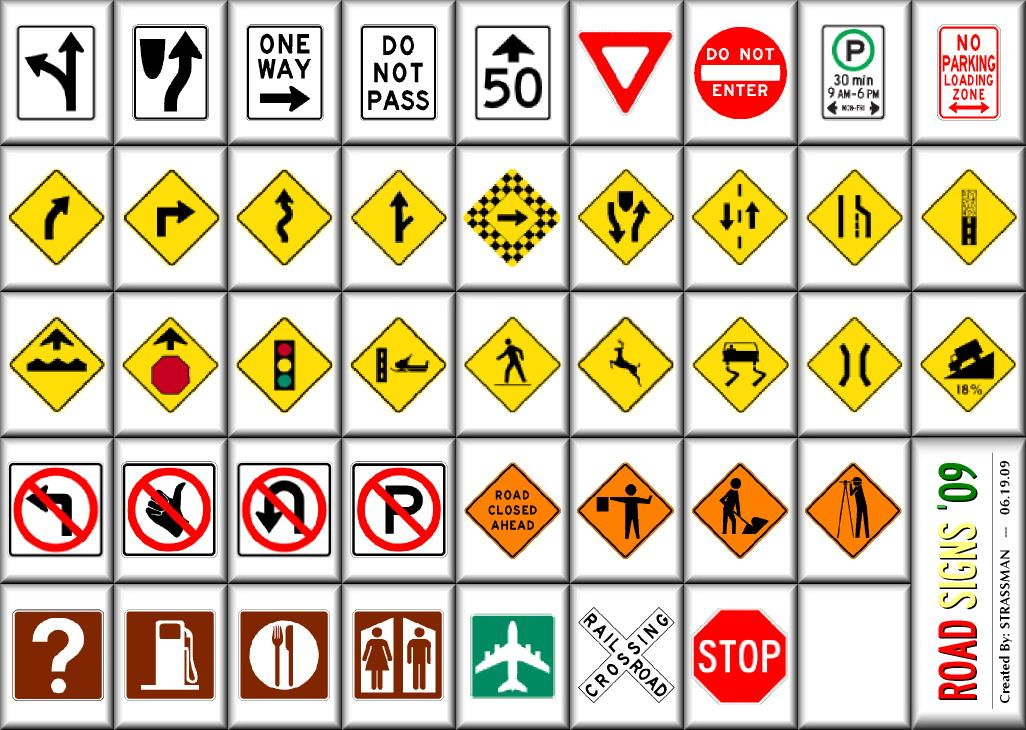 road number line for kids Road signs for kids My Chett