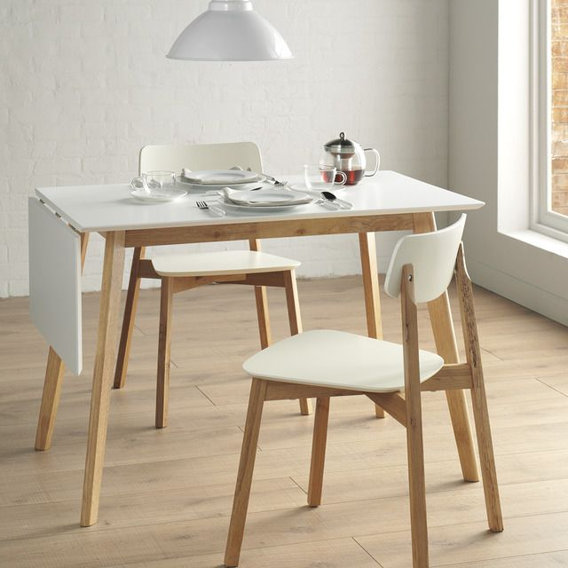 mesa de cocina extensible de madera liverpool