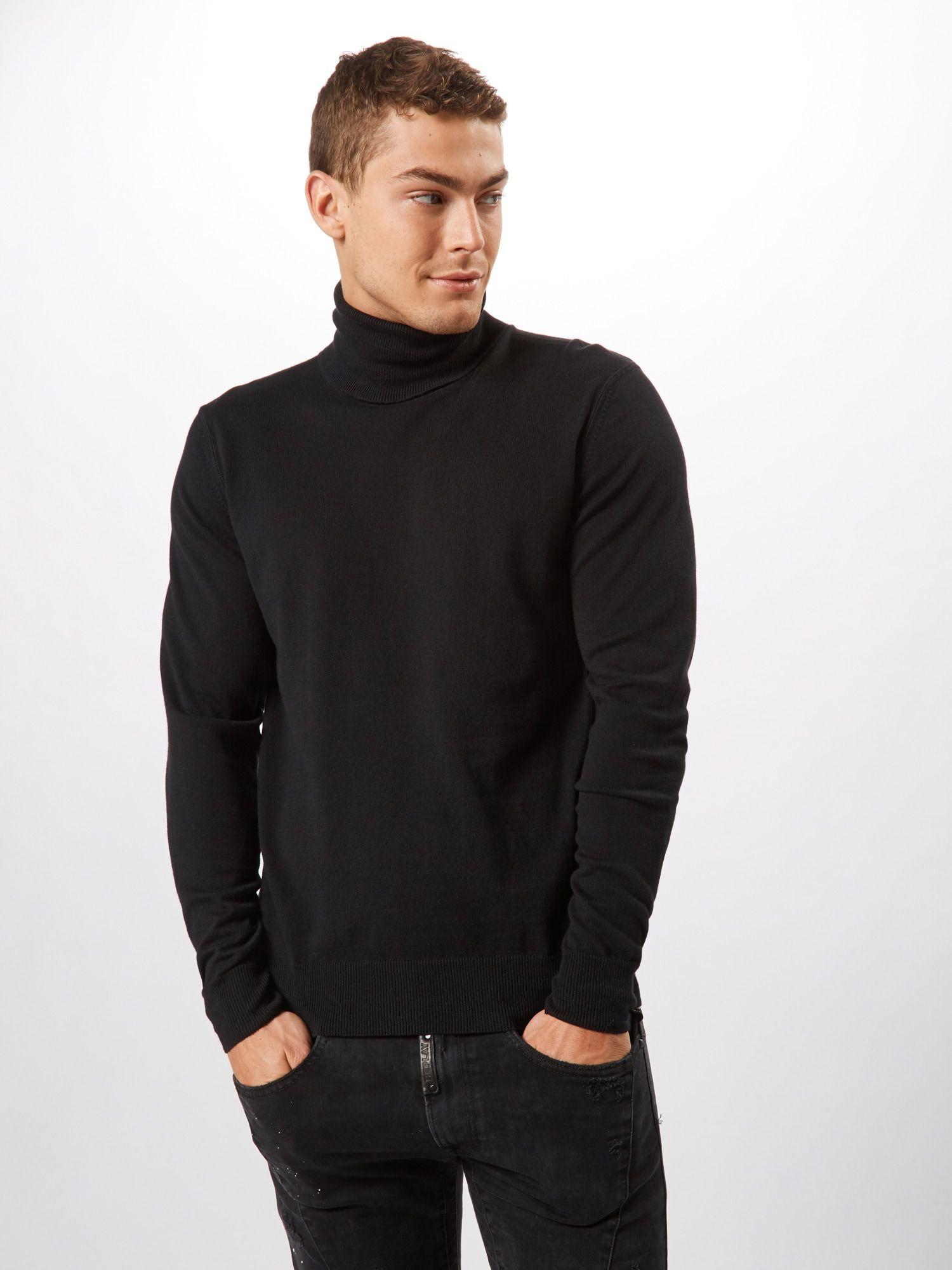 REPLAY Pullover 'Masche' Herren, Schwarz, Größe XL