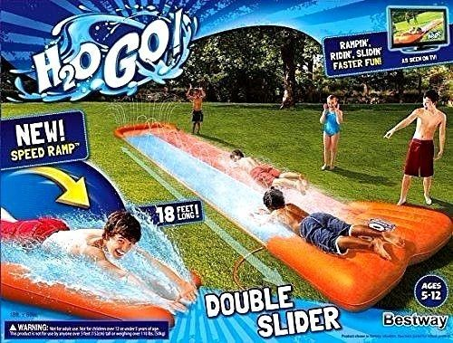 Slip and Slide Wave Rider Double Inflatable Kids Water Toy Long fast Playground #H2OGO