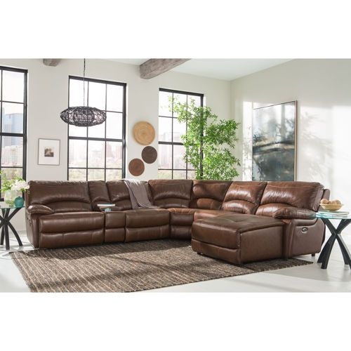 Leather Sofas Costco: Maddie Top Grain Leather Power-Reclining Sectional