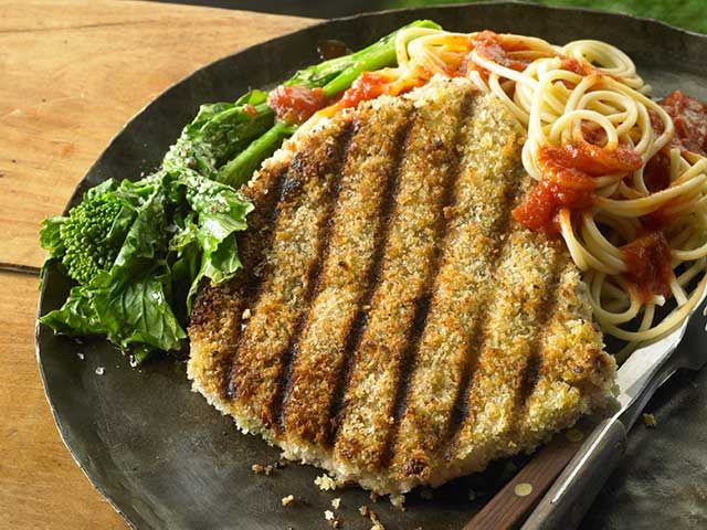 Grilled Pork Parmesan - Pork Recipes - Pork Be Inspired