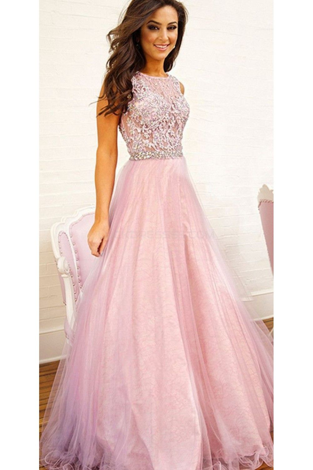 Elegant Long Pink Prom Evening Party Dresses 3020687 | Prom ...