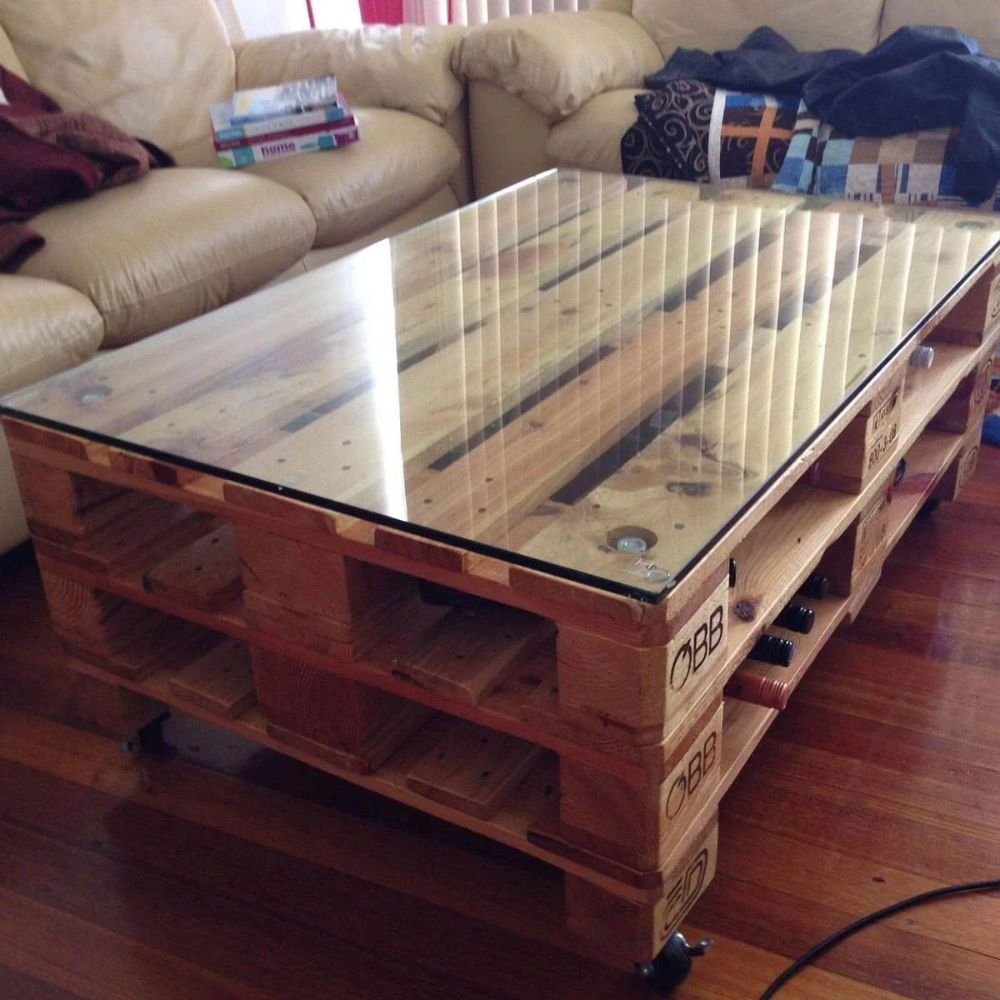 14 Cool Diy Coffee Table Ideas Coffee Table Wood Homemade Coffee Tables Wooden Pallet Furniture [ 1000 x 1000 Pixel ]