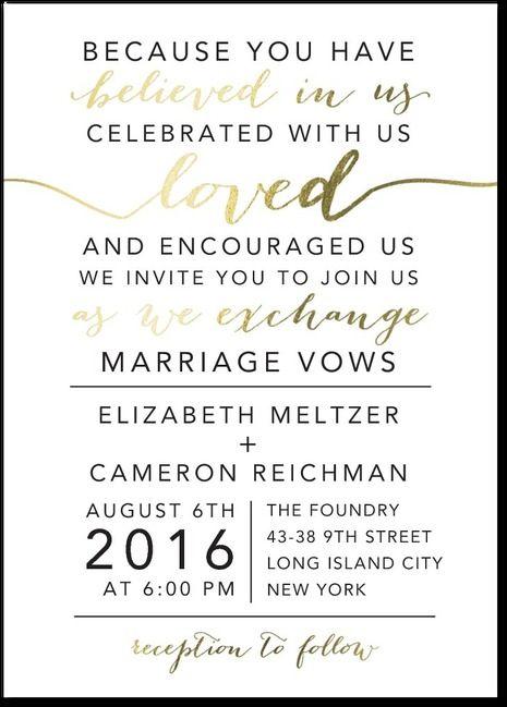 Elegant Exchange Signature Foil Wedding Invitations In White Or Cashmere Pink E Vow Renewal Invitations Foil Wedding Invitations Stylish Wedding Invitation