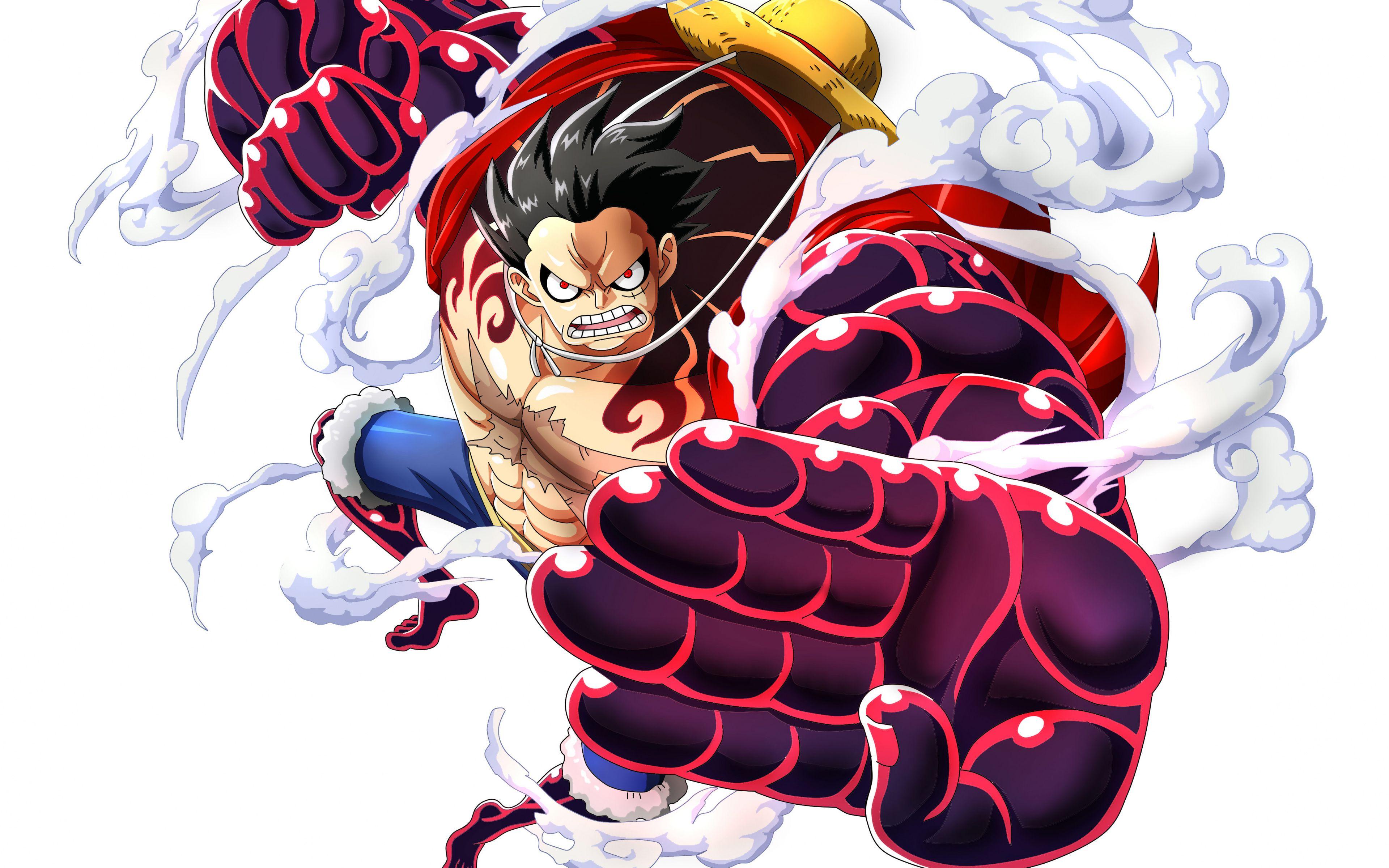 Download 3840x2400 Wallpaper Monkey D Luffy One Piece Anime Boy Punch 4 K Ultra Hd 16 10 Widescreen 3840x Luffy Gear 4 One Piece Luffy One Piece Gear 4
