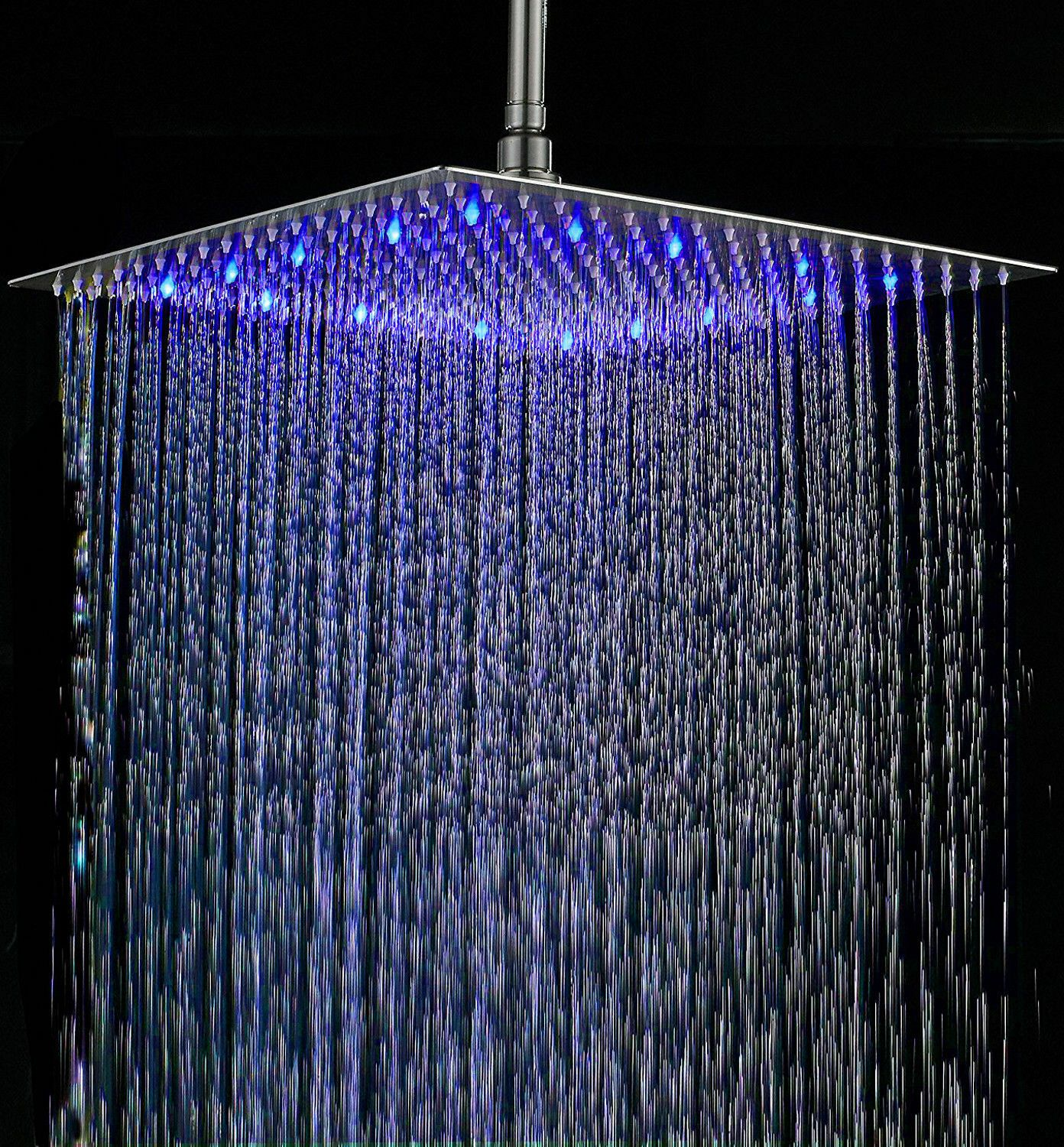 Led Change 16 Stainless Steel Rainfall Shower Head Top Sprayer Brushed Nickel Showers Ideas Of Shower Led Shower Head Rainfall Shower Head Rainfall Shower