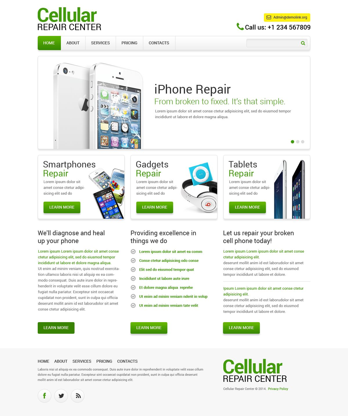 Website Theme Computer Repair Portfolio Html Templates Themes