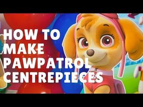 DIY Paw Patrol Party Decoration Centerpieces - Paw patrol party decorations, Paw patrol party, Paw patrol centerpiece, Paw patrol birthday, Paw patrol birthday party, Paw patrol decorations - Check out our FREE Paw Patrol Party Decoration Centerpieces  They are so easy and quick to make  I will show you how with my step by step tutorial video  Printables are included