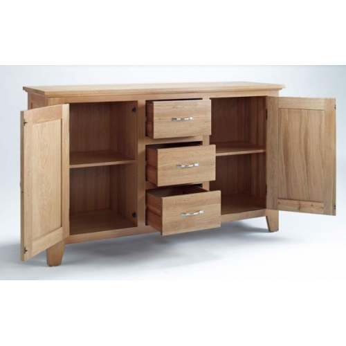 Easyfurn Tv Meubel.Cambridge Oak 2 Door 3 Drawer Sideboard Co2102 Www Easyfurn Co Uk