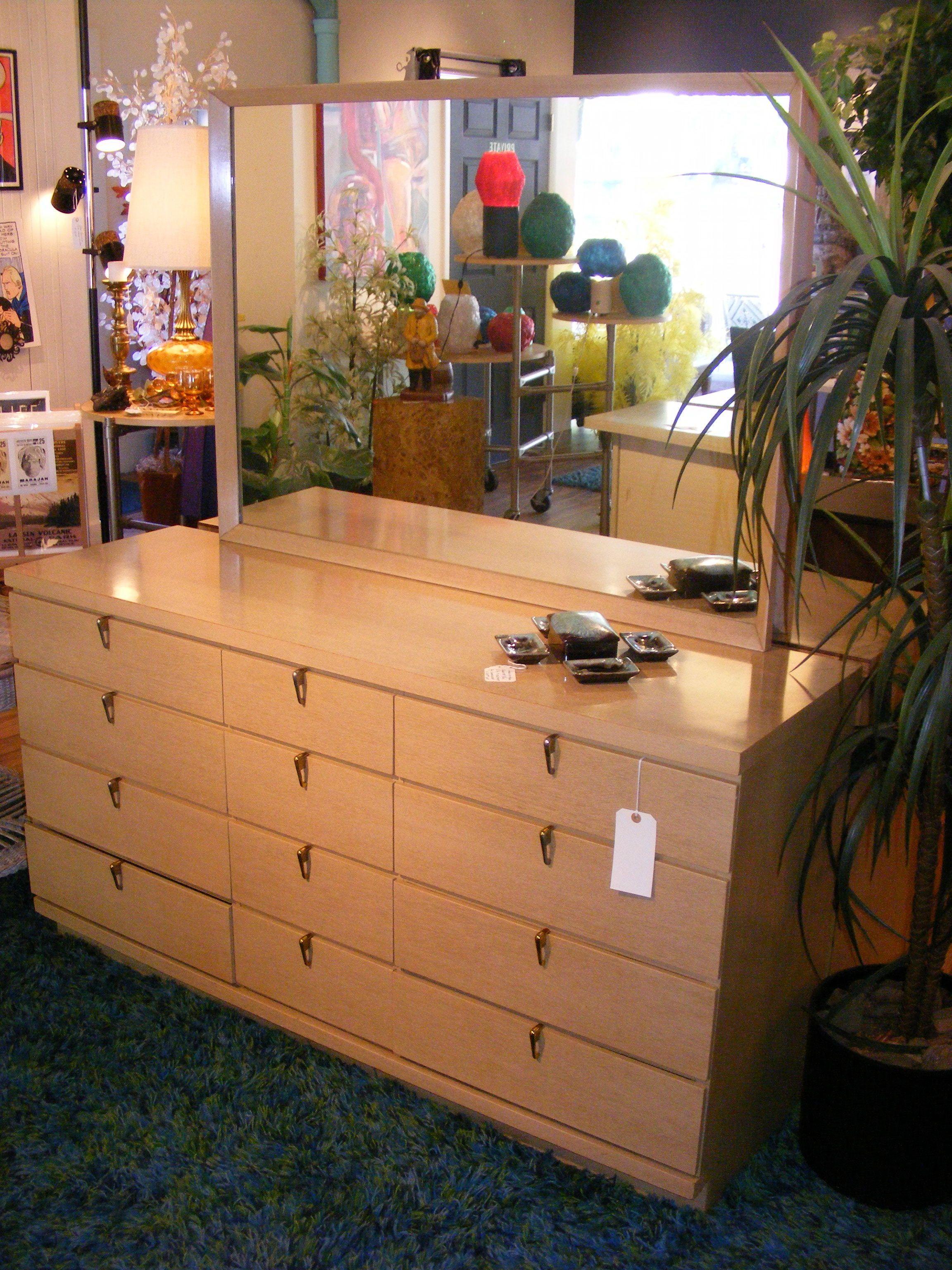 Blond beauty dresser with mirror amazing drawer pulls u at retro
