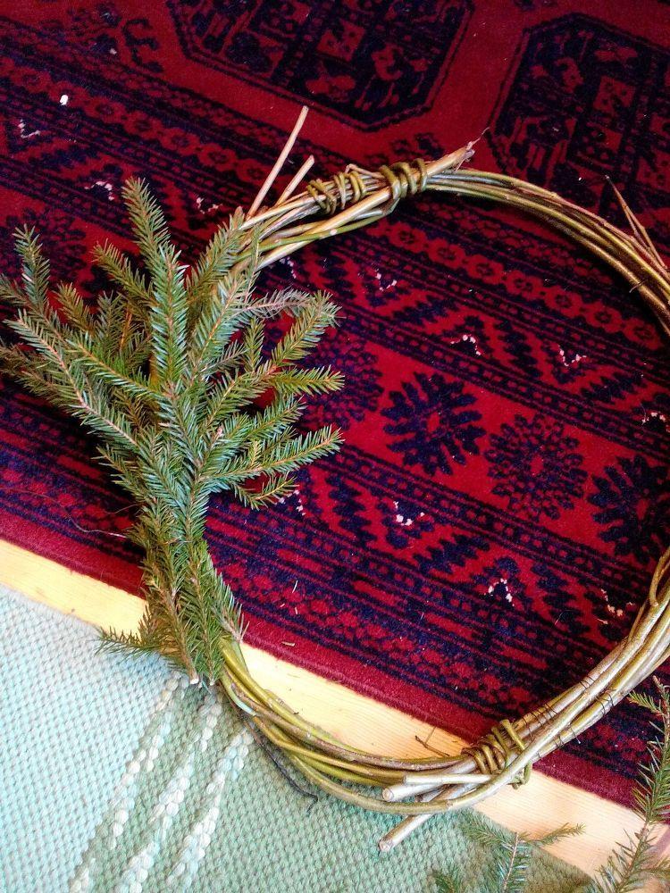 #homeForchristmas Wreath on the Door