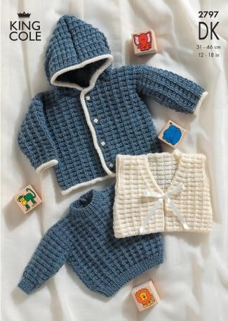 Item Code2797 Knitted In King Cole Double Knit This Baby Knitting