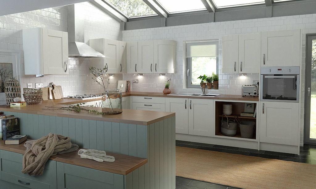 Shaker Sage Timber Kitchen Image 2  Storage  Pinterest  Timber Simple Designer Kitchens For Sale 2018