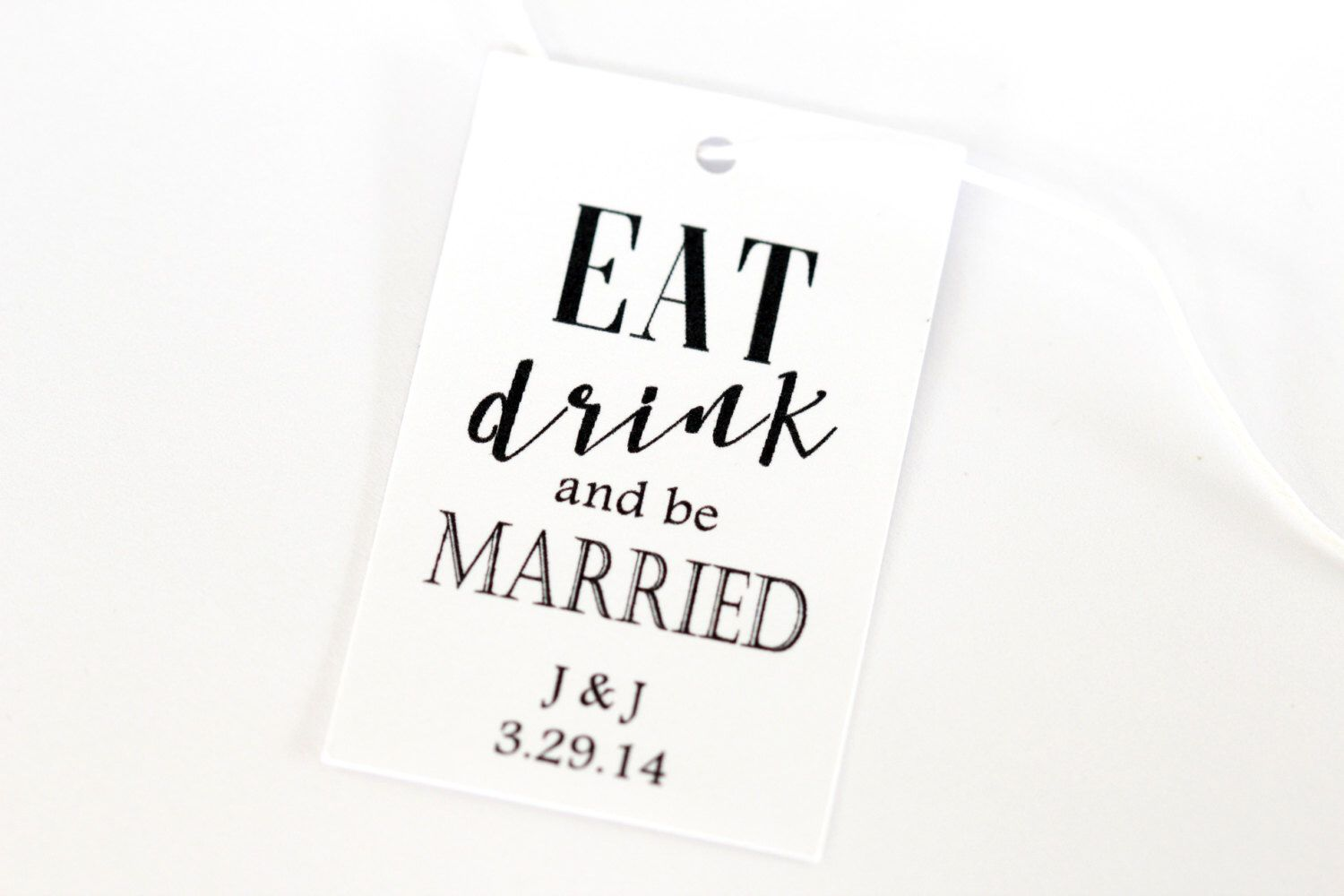 Eat Drink and be Married, Wedding Favor Tags, Drink Tags, Mason Jar ...