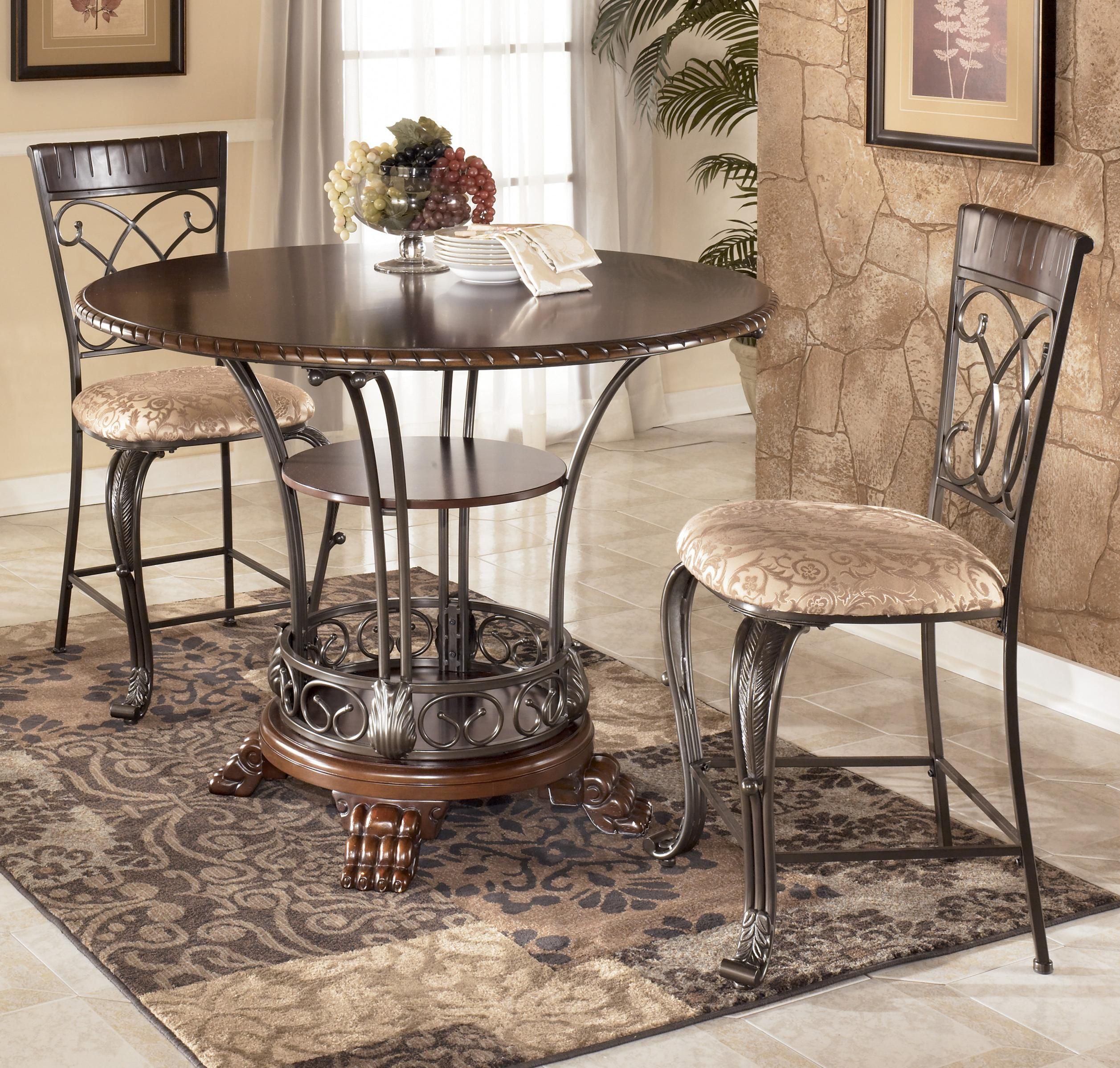 Alyssa 3 Piece Counter Height Dining Table Set By Ashley Furniture