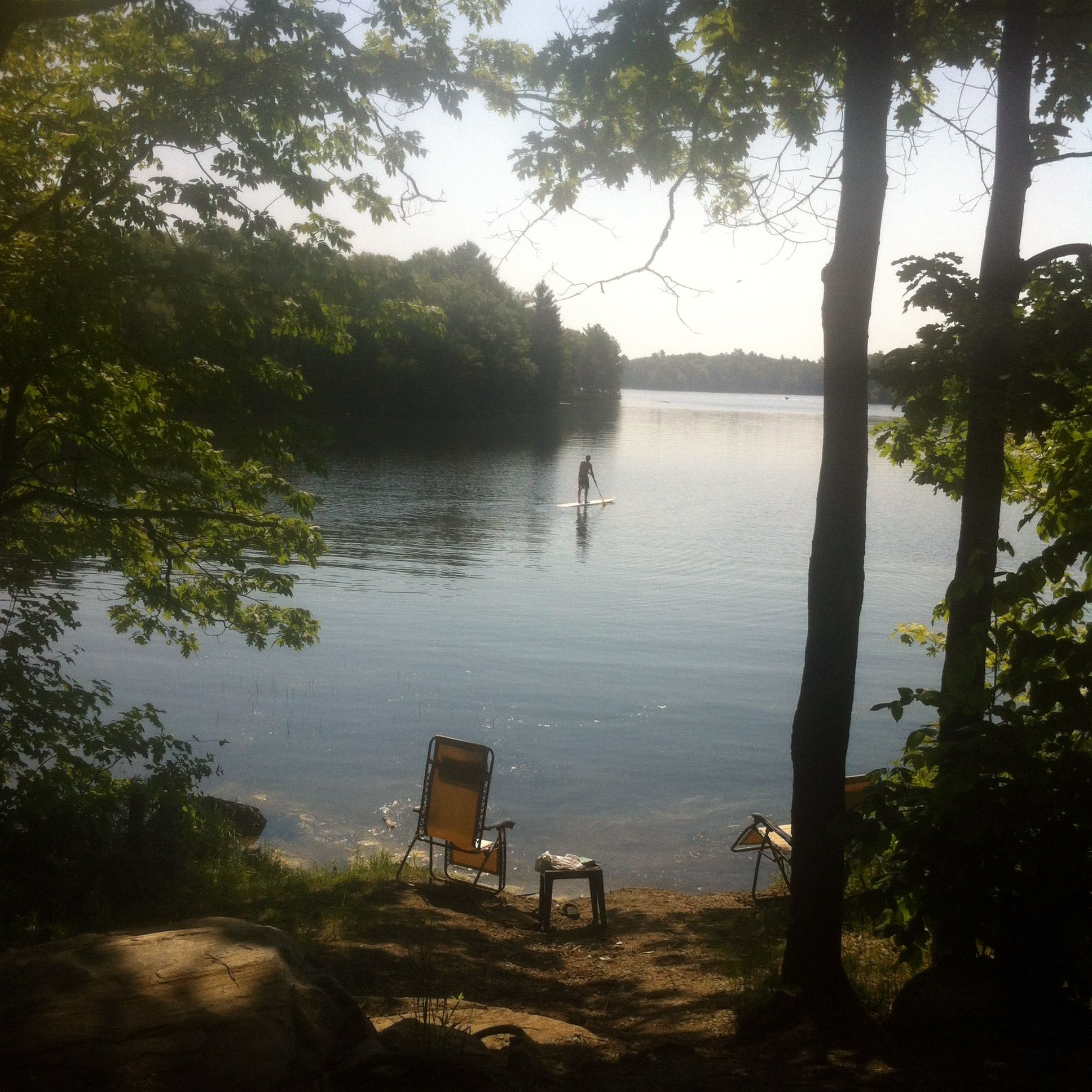 Our view from site 27 Six Mile Lake Provincial Park ...