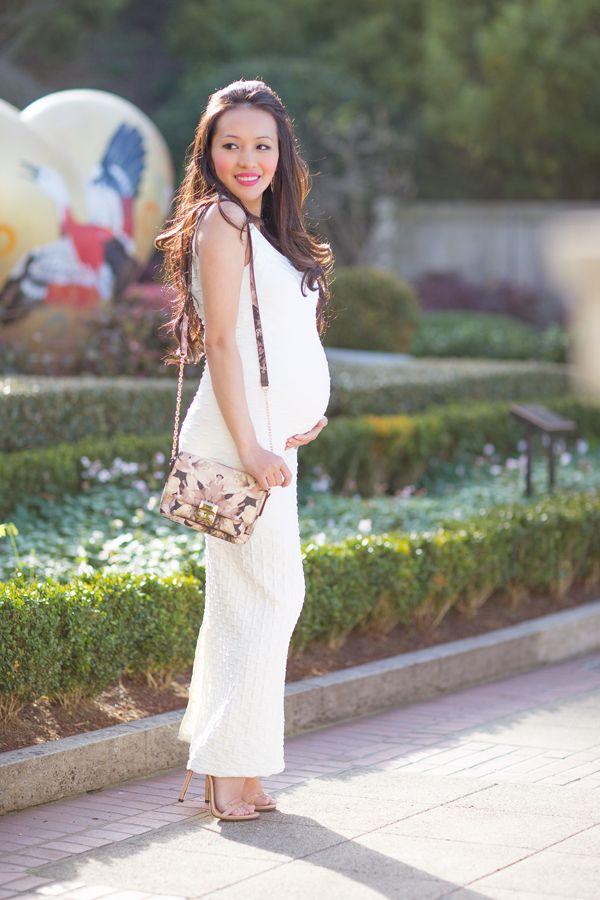 white maternity dress, petite fashion, style blog, style by alina ...