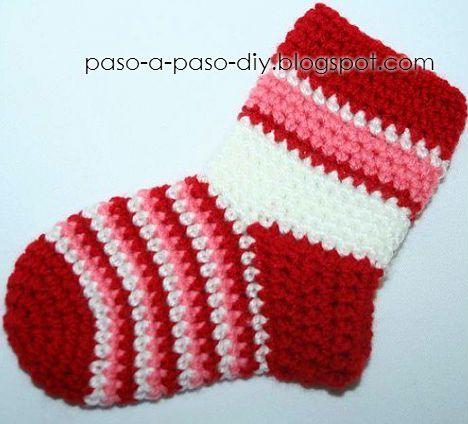 Una Idea Super Fácil Para Tejer Calcetines Al Crochet Aprende Cómo Hacerlos Paso A Paso Como Tejer Calcetines Tejer Calcetines Calcetines De Ganchillo
