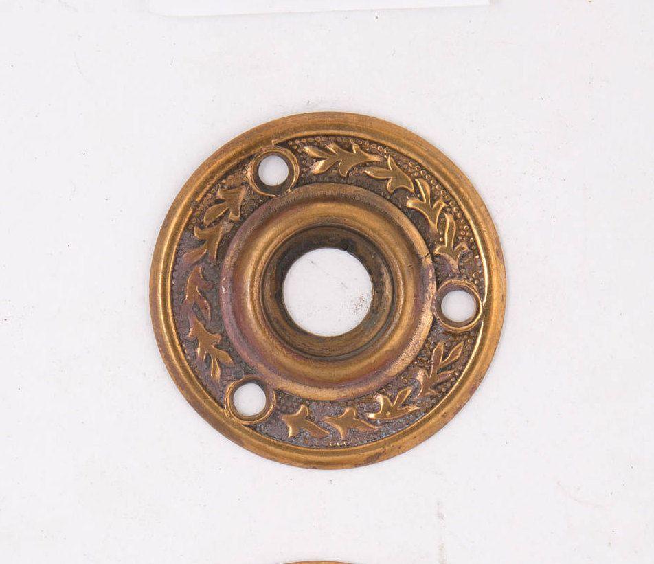 Decorative Bronze Doorknob Rosette 530034 by CharlestonHardwareCo on Etsy