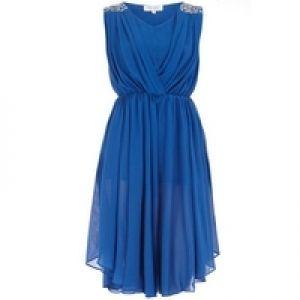 Dorothy Perkins Embellished dip hem dress £33