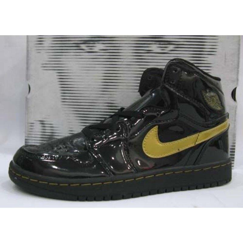 37205bc6ae13 Air Jordan 1 Retro Patent Leather Black Metallic Gold