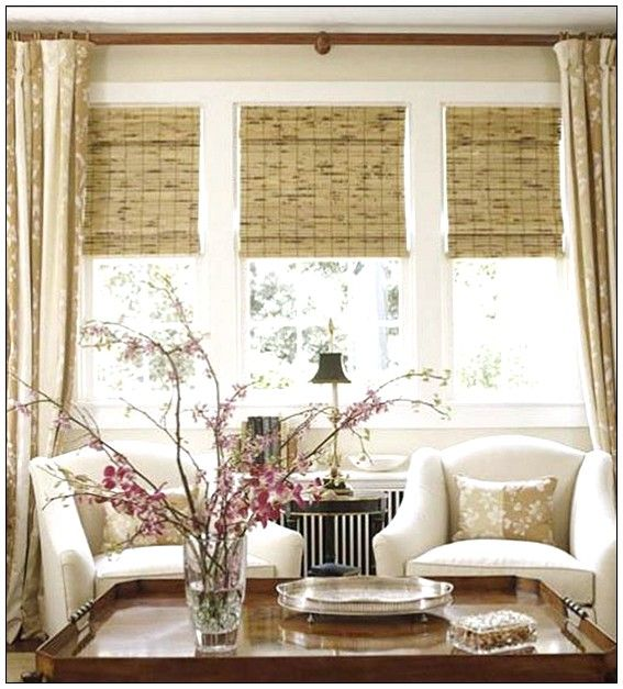 living room windows ideas round rug best window coverings for large blinds bay treatment