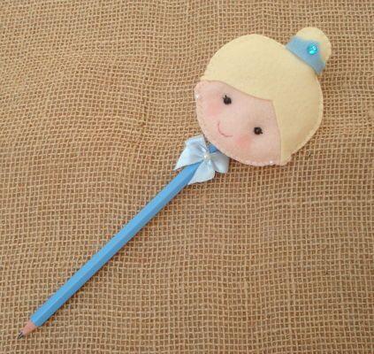 Lápis Cinderela - Ideal para lembrancinha de Aniversário