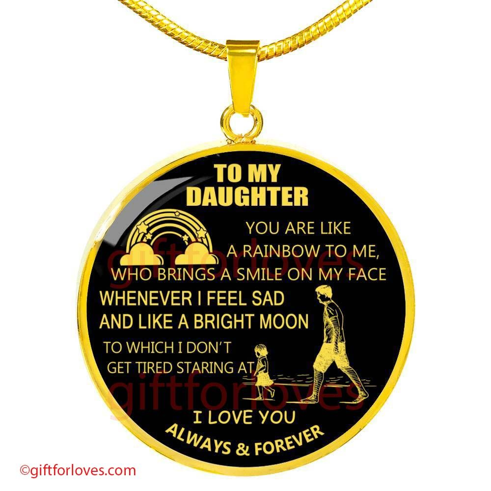 Unique Gift Ideas from Father Daddy Papa for Christmas Birthday Dad and Daughter Luxury Necklace Pendant