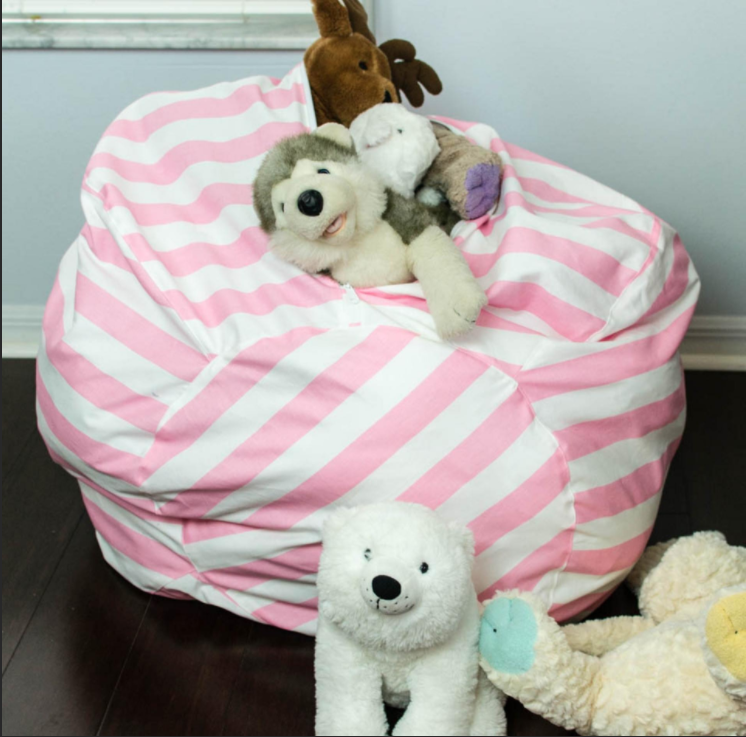 Free Sewing Pattern Bean Bag Chair With Toy Storage Bean Bag Chair Make A Bean Bag Chair Stuffed Animal Storage