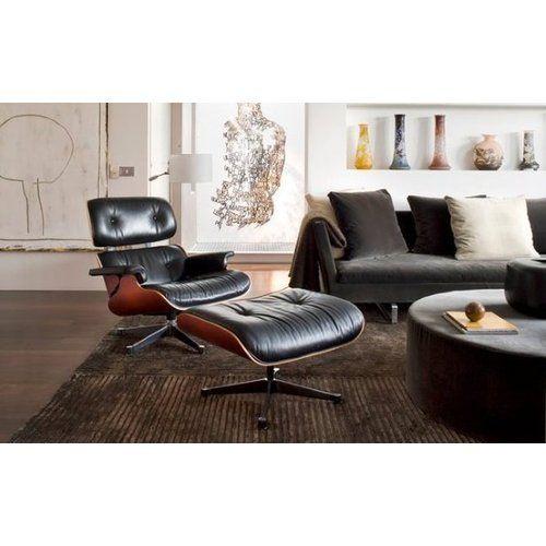 Hochwertig Eames Lounge Chair Und Ottomane   Schwarz Mit Rosenholz In Wohnzimmer