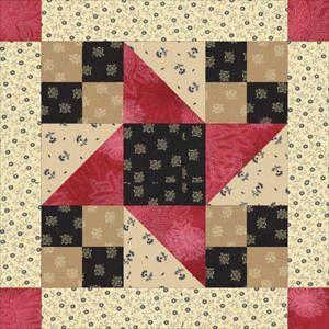 Framed Friendship Stars Quilt Block Pattern. Using 10 1.2 inch ... : friendship quilt block pattern - Adamdwight.com