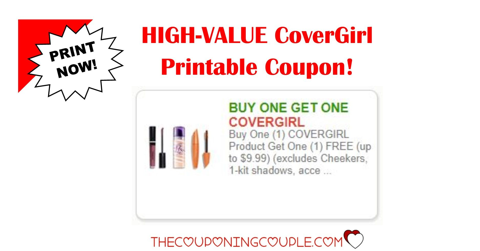 image regarding Covergirl Printable Coupons identified as 3 CoverGirl Printable Coupon ~ Incredible Discounts! Print Already