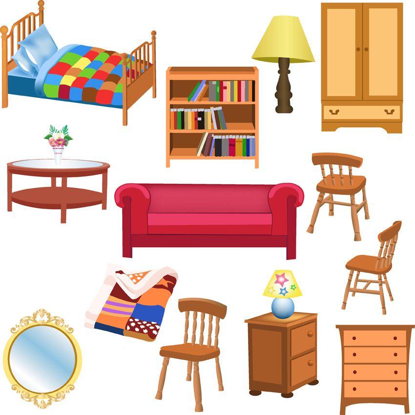 Free Vector Vector Furniture Ideias De Atividades Para Criancas