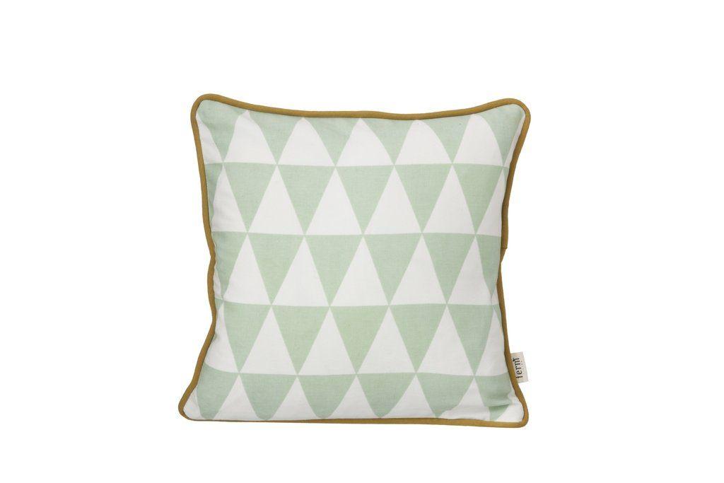 Little Geometry Cushion in Mint design by Ferm Living