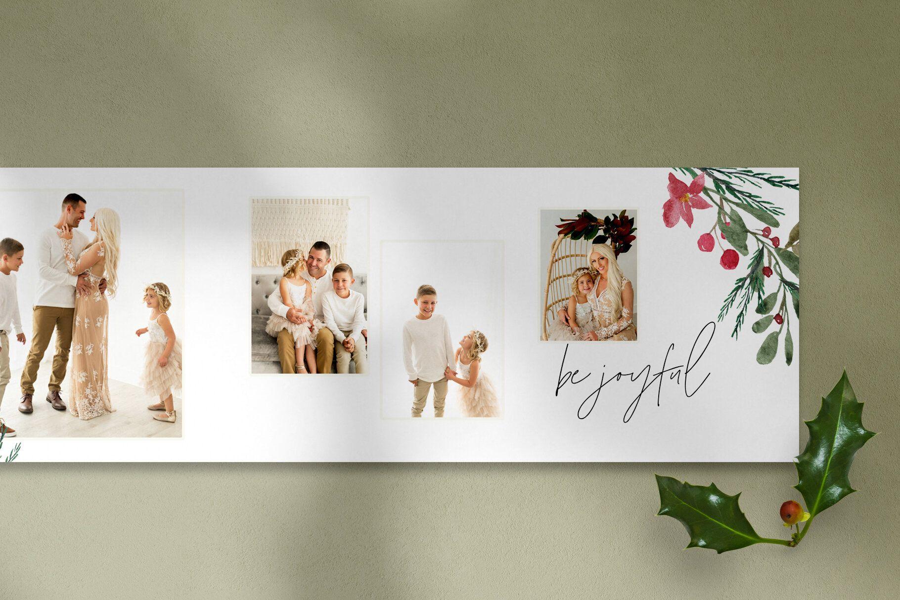 Christmas 5x5 Trifold Card Design Photoshop Templates For Photographers By Stephanie Design Christmas Photo Card Template Photoshop Template Design Card Design