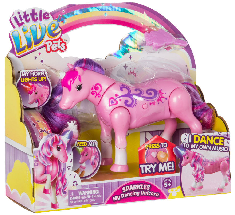 Little Live Pets Sparkles My Dancing Unicorn Toys R Us Canada Little Live Pets Unicorn Toys Toys For Girls