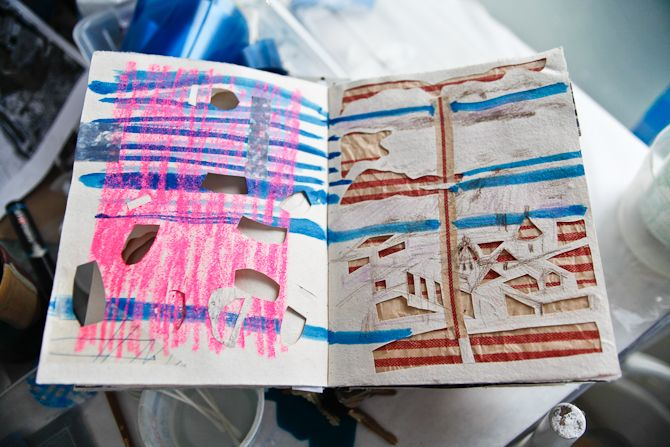 Fran Siegel's sketchbook.