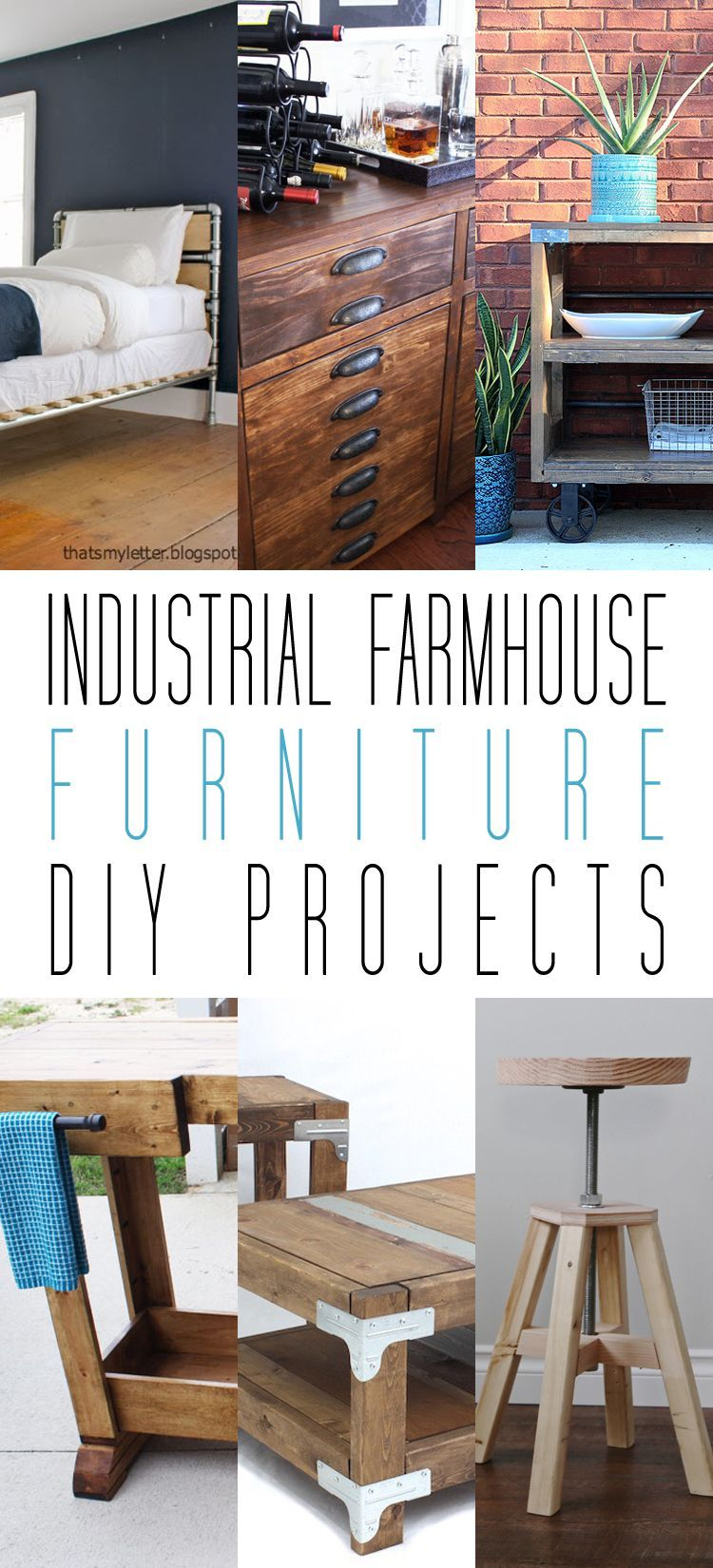 Industrial Farmhouse Furniture Diy Projects Weekend Diy Diy