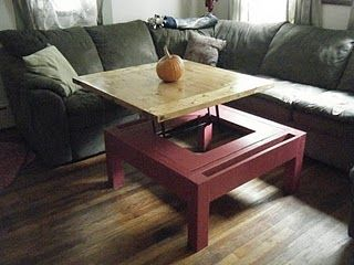 Lift Top Coffee Table From Modified Ana White Plans Coffee
