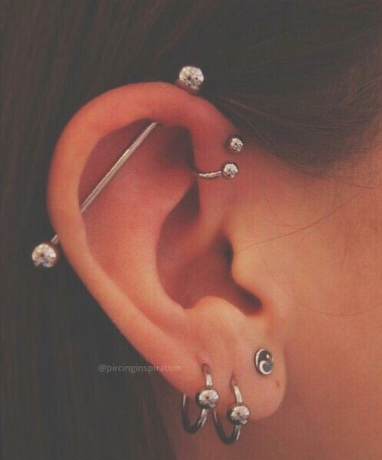 Forward Helix Horse Shoe Tattoo S In 2018 Pinterest Piercings