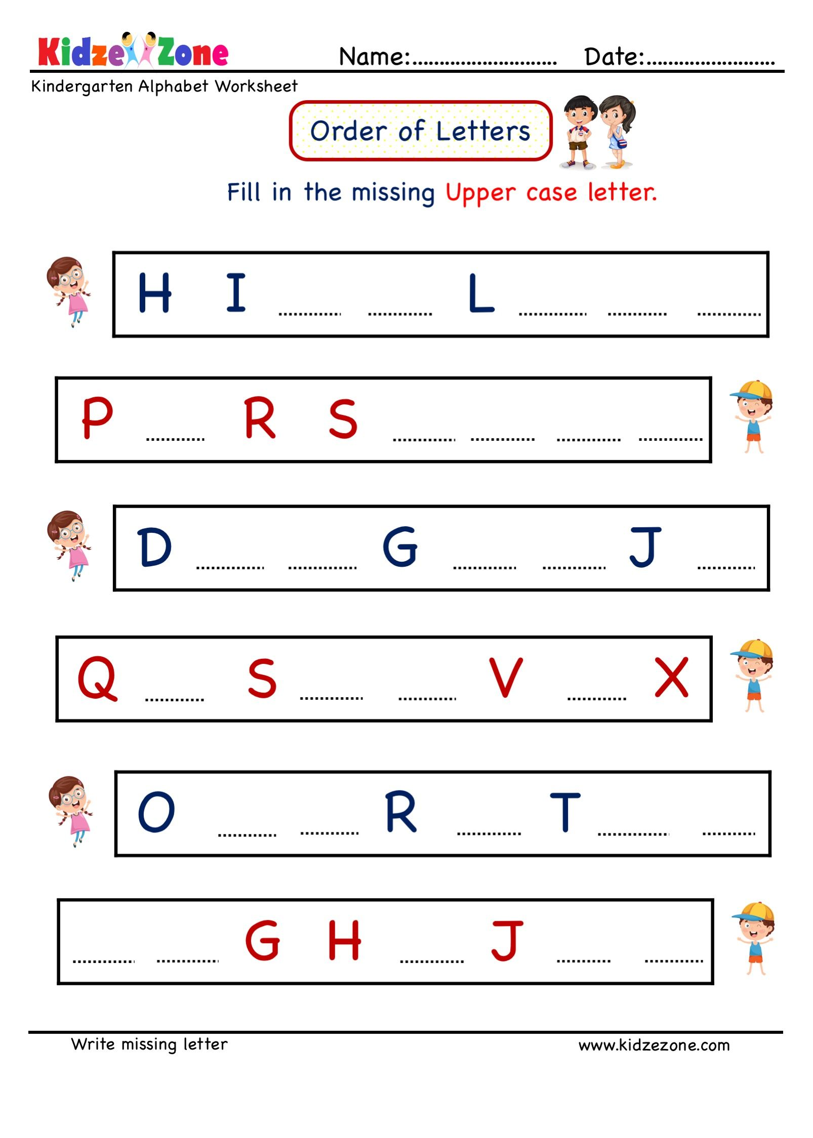 Fill Missing Upper Case Letter Kindergarten Worksheets In 2020 Letter Writing Worksheets Alphabet Worksheets Kindergarten Letter Worksheets