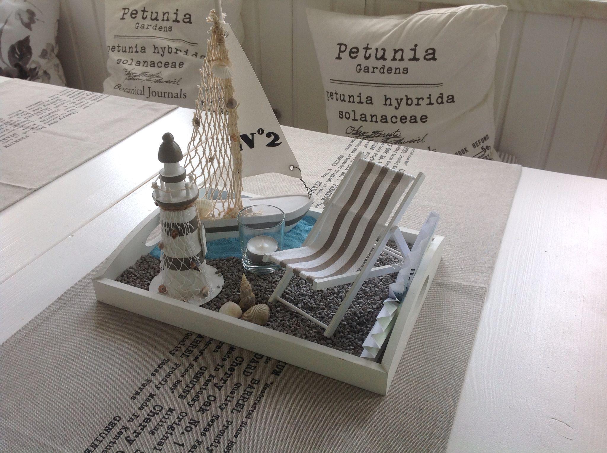 geschenkverpackung idee reisegutschein dekoriert auf einen tablett als strand mit dekosand. Black Bedroom Furniture Sets. Home Design Ideas