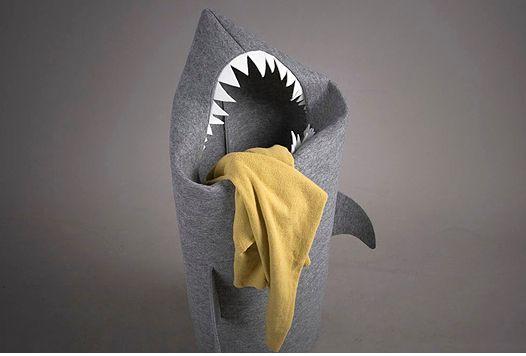 상어 모양 빨래바구니 - Shark Shaped Laundry Basket