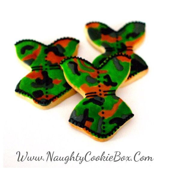 95da356486 1 Dz. Camo Diva Corset Cookies. Camo Corsets by NaughtyCookieBox. 10% of  all proceeds benefit the Testicular Cancer Society.