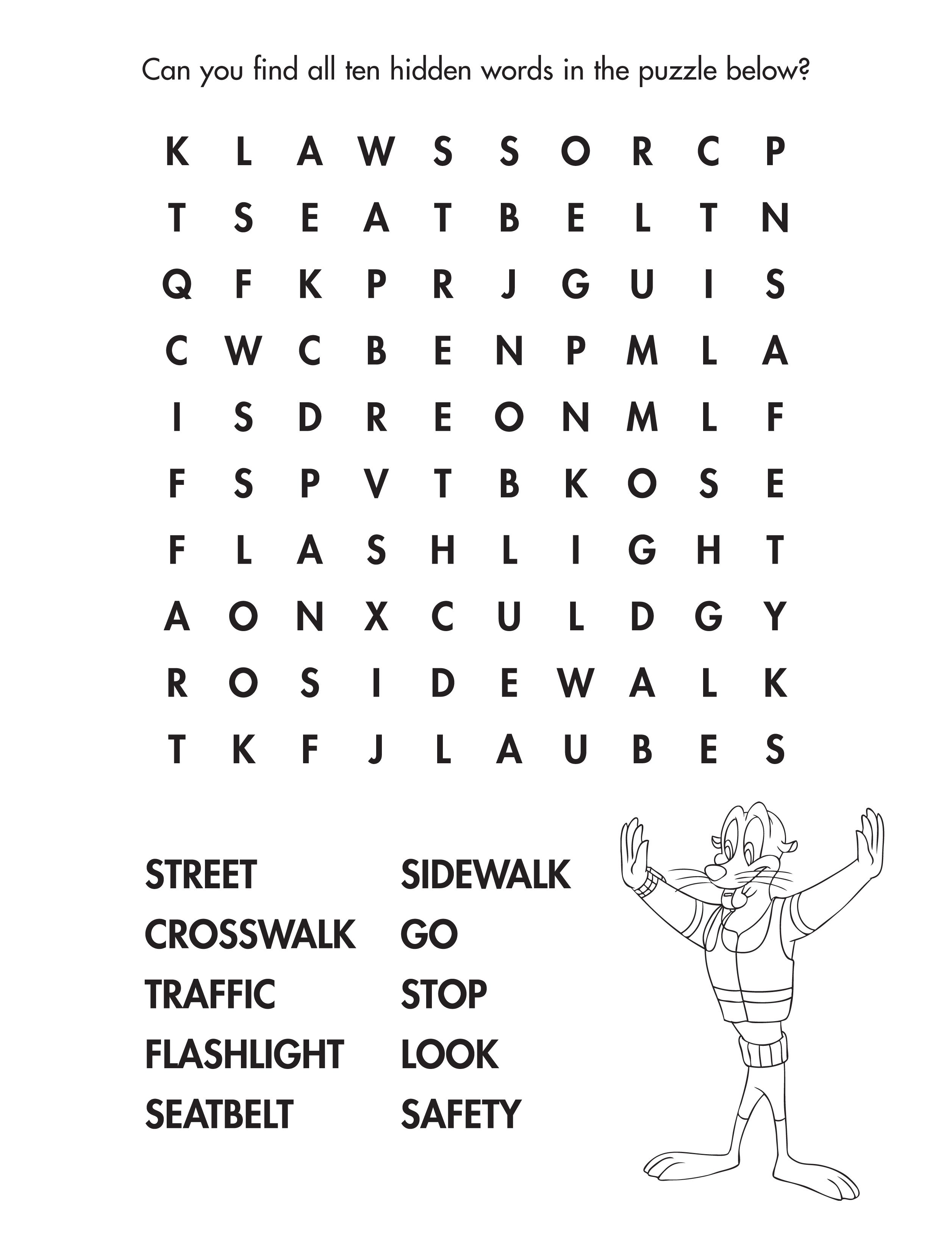 Street Smarts Word Find Kidactivity Wordfind Free