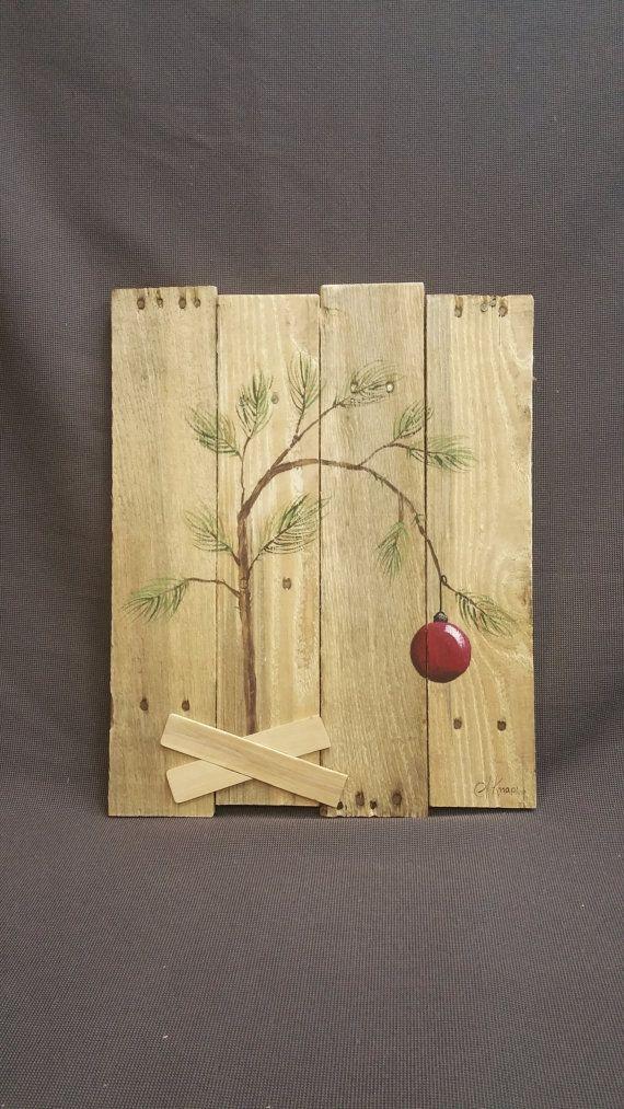 Charlie Brown Christmas tree, Hand panted Christmas decorations ...