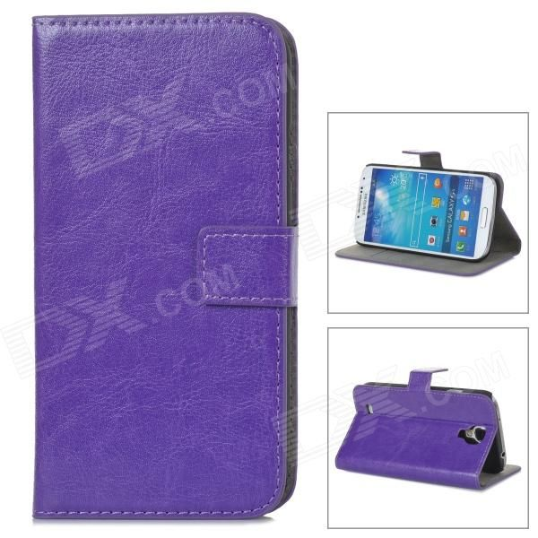 Color: Purple; Brand: N/A; Model: A-556; Material: PU leather; Quantity: 1 Piece; Compatible Models: Samsung Galaxy S4 i9500; Other Features: Protects your device from scratches, dust and shock; Packing List: 1 x Protective case; http://j.mp/1q0d4Sw